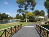 Warragul / Civic Park / View from rotunda towards lake and BBQ shelter