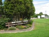 Warragul / Rotary Park, corner Princes Way and Latrobe Street / Park sign facing Princes Way