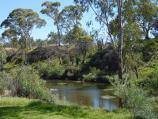 Werribee / Chirnside Park, Watton Street / View of Werribee River from pathway west of oval