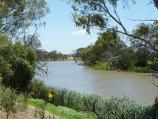 Werribee / Riverbend Historical Park, Heaths Road / Westerly view along Werribee River near canoe launching deck