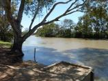 Werribee / Riverbend Historical Park, Heaths Road / View across Werribee River at canoe launching deck