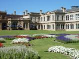 Werribee / Werribee Park and The Mansion, Werribee South / View across parterre towards cafe entrance