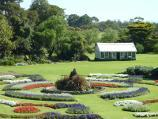Werribee / Werribee Park and The Mansion, Werribee South / View from front balcony of The Mansion towards parterre and glass house