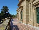 Werribee / Werribee Park and The Mansion, Werribee South / View along front balcony of The Mansion towards door