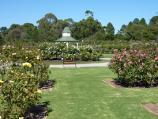 Werribee / Victoria State Rose Garden at Werribee Park, Werribee South / View across lawns to rotunda