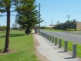 Werribee / Beach, foreshore, jetty, boat ramps and J.D. Bellin Reserve, Beach Road, Werribee South / North-westerly view along Beach Rd towards Rivercoast Rd