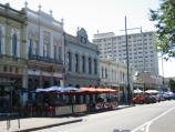 Williamstown / Nelson Place and shops / Cafes and restaurants, view north along Nelson Pl at Cole St