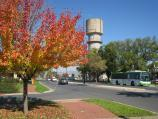 Wodonga / Cultural precinct, Hovell Street between Lawrence St and Elgin Boulevard / View south-west along Hovell St towards library