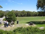 Woodend / Hanging Rock Reserve, South Rock Road / Picnic area and oval in front of Hanging Rock Picnic Cafe