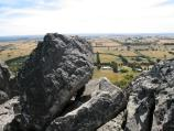 Woodend / Climb to summit of Hanging Rock / View west at Morgan's Lookout