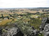 Woodend / Climb to summit of Hanging Rock / View north-west at Morgan's Lookout