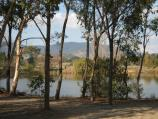 Yackandandah / Allans Flat Reserve and lake, Gap Flat Road / View across lake from car park at reserve