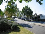 Yarra Glen / Commercial centre and shops, Bell Street / View north along Bell St service road
