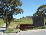 Yarra Glen / De Bortoli Winery, Pinnacle Lane, Dixons Creek / View west along Pinnacle La at winery entrance