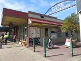 Yarragon / Commercial centre and shops, Princes Highway service road / View west along service road at Campbell St