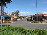 Yarragon / Commercial centre and shops, Princes Highway service road / View south along Campbell St at service road