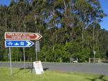Yarram / Tarra - Bulga National Park / Tarra-Bulga National Park Visitors Centre, entrance at Grand Ridge Rd