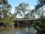 Yea / Goulburn River at the reserve and boat ramp off east side of Ghin Ghin Road / View west along river towards bridge