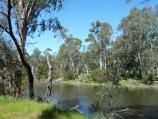 Yea / Goulburn River at the reserve and boat ramp off east side of Ghin Ghin Road / View south across river near boat ramp